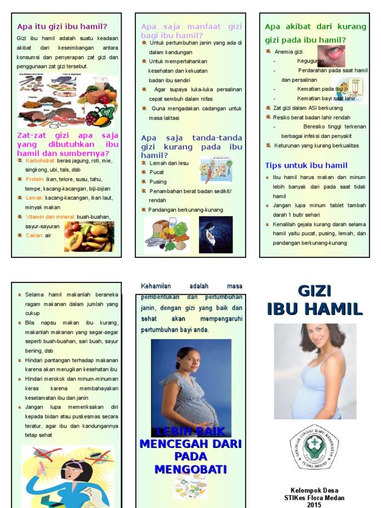 Leaflet Gizi Ibu Hamil