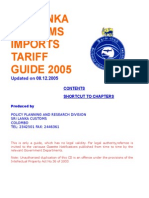Sri Lanka Customs tariff - 2005