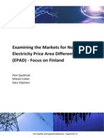 Examining the Markets for Nordic Electricity Price Area Differentials (EPAD) ‐ Focus on Finland