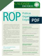 Qualidade em foco - Práticas Organizacionais Exigidas