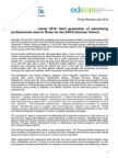 EACA International Summer School_Press Release_July 2014