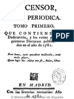 El Censor (Madrid. 1781). Núm.1