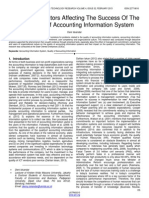 Analysis of Factors Affecting the Success of the Application of Accounting Information System