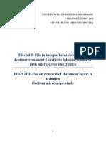 Efectul F File in Indepartarea Smear Layer Ului