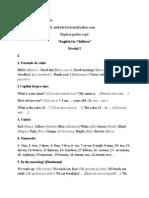 Programa Optional Engleza Nivelul 2