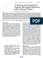 Evaluation of Tolerance and Sensitivity of Selected Plant Species With Special Reference to Gasoline Exhaust Pollution