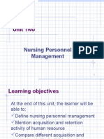 Unit 2-Nursing Personnel Management