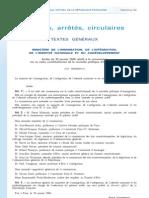 Arrêté Commission Mazeaud 30 01 08 - Ministère Hortefeux