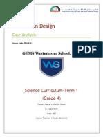 curriculum design (case analysis)