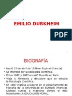 8. Emilio Durkheim