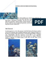 the major scuba diving spots in french polynesia