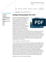 Strategic Planning Update 2013-2016 – UIS Strategic Plan - University of Illinois Springfield - UIS