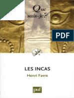 Les Incas - Favre Henri