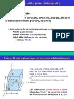 Puncte Directii Plane Cristalografice