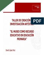 TALLER DE CREACIÓN E INVESTIGACIÓN ARTÍSTICA