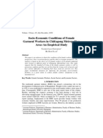 Socio-Economic Condition of Female Garments Workers