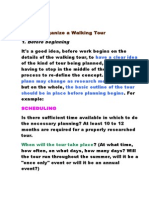 How to Organise a Walking Tour SENT