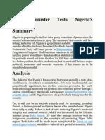 Power Transfer Tests Nigerias Democracy