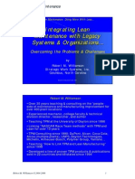 Integrating Lean Maintenance With Legacy Systems & Organizations