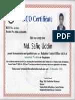 Safiq Uddin_RCO Certificate
