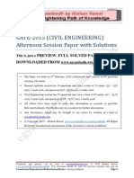 GATE Civil Engineering 2015_Evening Paper With Solutions