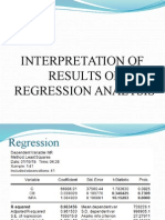 Regression Analysis...Interpretation