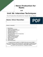 radio pre production booklet