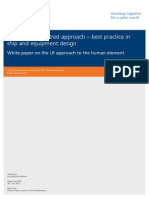 The Human-centred Approach — Best Practice in Ship and Equipment Design