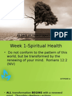 Transformation Spiritual Health 1