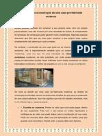 6 Passos Para a Construção de Uma Casa Pré-fabricada