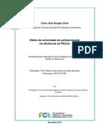 Efeito da velocidade de polimerização na eficiência de PDLCs