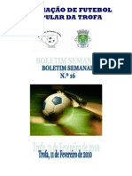 Boletim Semanal N.º 16 2009-2010