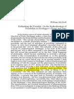 McNeill Heidegger Rethinking Possibility
