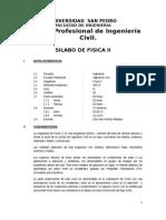 Silabo de Fisica II-2013-2 USP