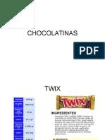 Informacion Nutricional de Chocolatinas