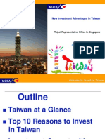 New Investment Advantages in Taiwan