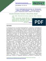 Caracterizacion de La Leptospirosis Bovina en Venezuela.