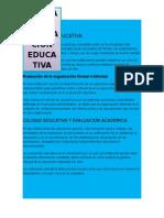 Calidad y Evaluacion Educativa 8.