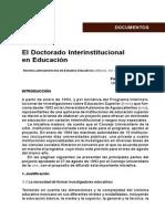 El Doctorado Interinstitucional