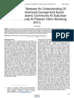 The Relation Between an Understanding of Muslim Brotherhood Concept and Social Solidarity in Islamic Community at Suburban Area Case Study at Palasari Cibiru Bandung 2011