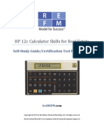 REFM HP 12c Skills Study Guide