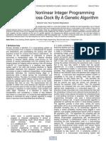 Designing a Nonlinear Integer Programming Model for a Cross Dock by a Genetic Algorithm