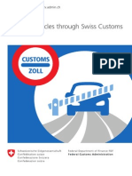 Clearing vehicles through Swiss customs
