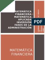 Admon Obras 3 - (Matematica Financiera, Matematica Aplicada, Inversion, Fases Admon)