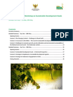 Summary of Bali SDG Workshop