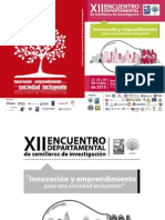 "Programaciã""n General Encuentro Semilleros 2015"