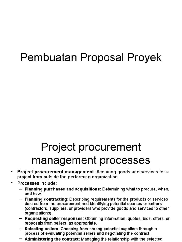 Contoh Proposal Proyek Procurement Sales