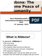 Lecture7.Nibbana the Supreme Peace of Humanity