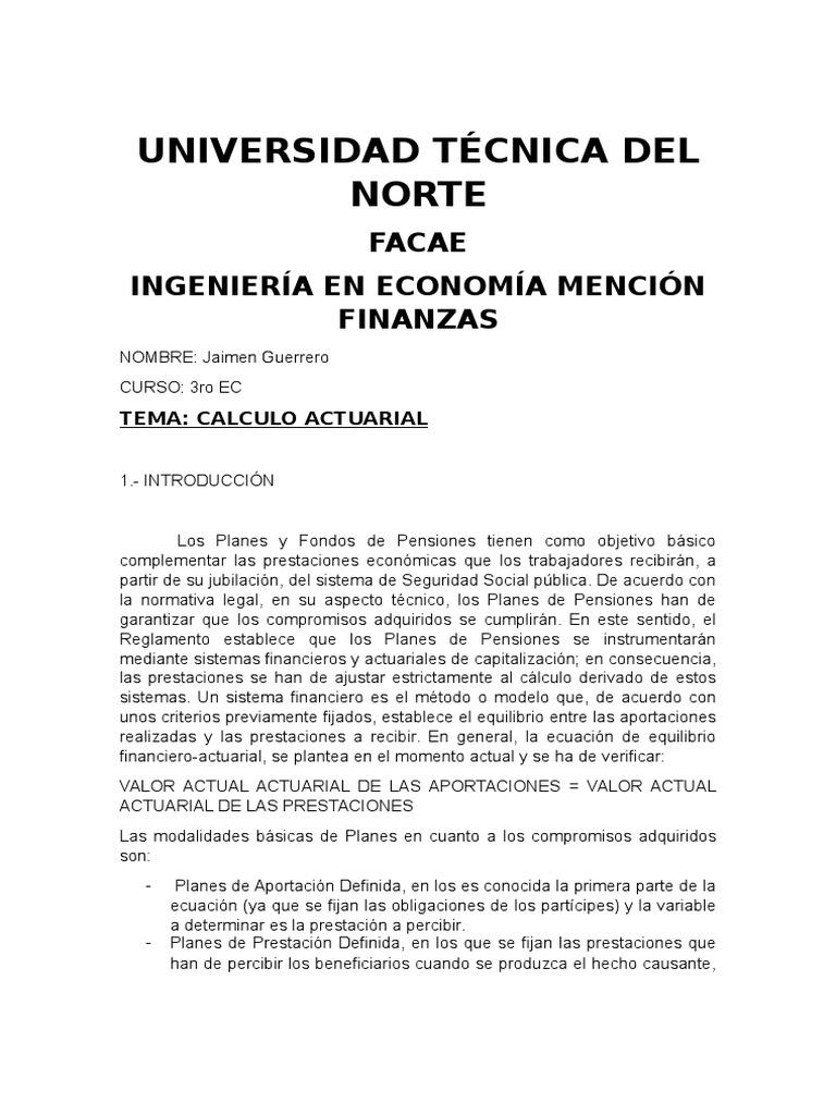 Único Resumen De Ciencia Actuarial Imagen - Ejemplo De Colección De ...