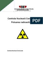 Poluarea radioactiva. Centrala Nucleara Cernavoda